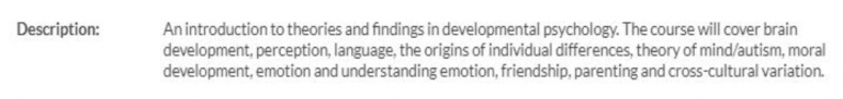developmental psychology 1